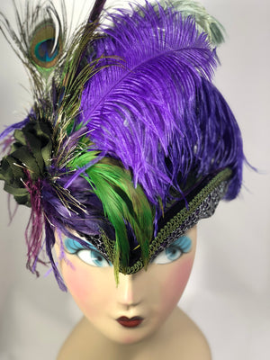 Renaissance Costume TriCorn Hats with extravagant feathers can be custom made to match your existing festival costuming!