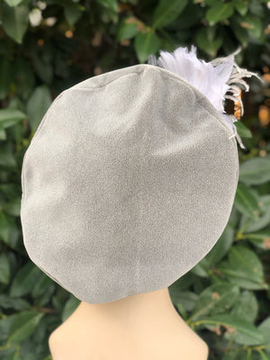 Tam Hat with Feather Hat Pin