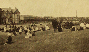 Historical photograph of Carnoustie golf course designed by golf course architect Allan Robertson