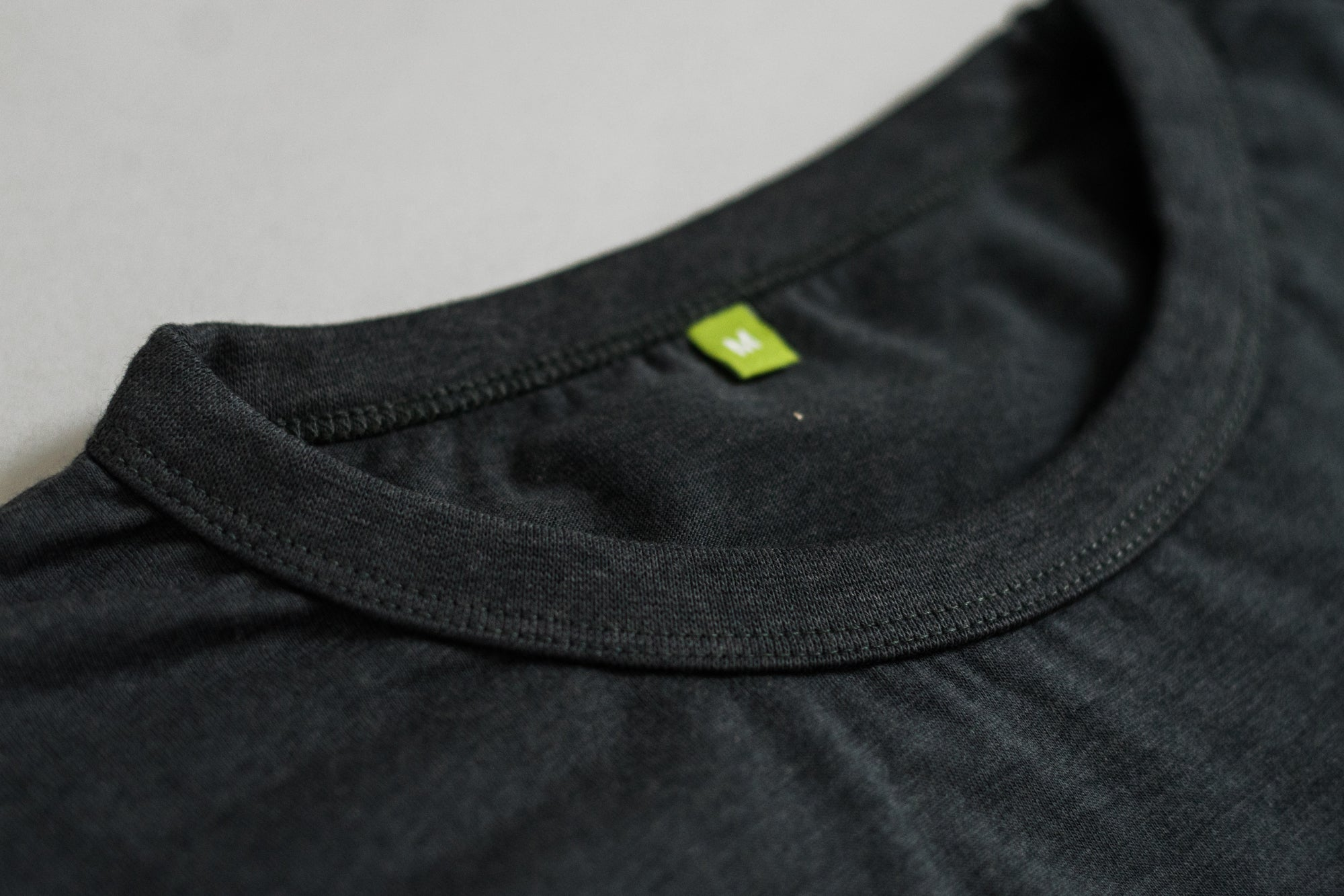 Close up shot of the collar on the Bamboo T-shirt
