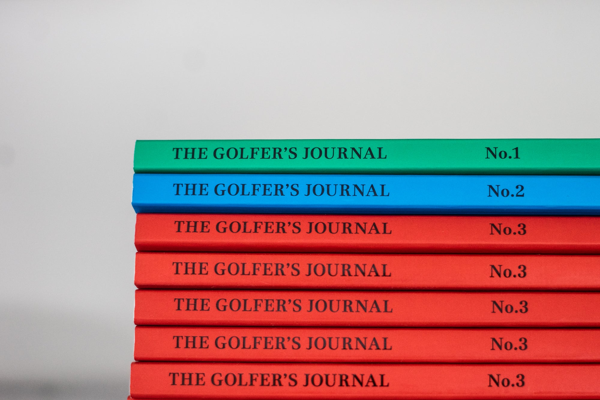 The Golfer's Journal Issues 1 to 3 stacked up