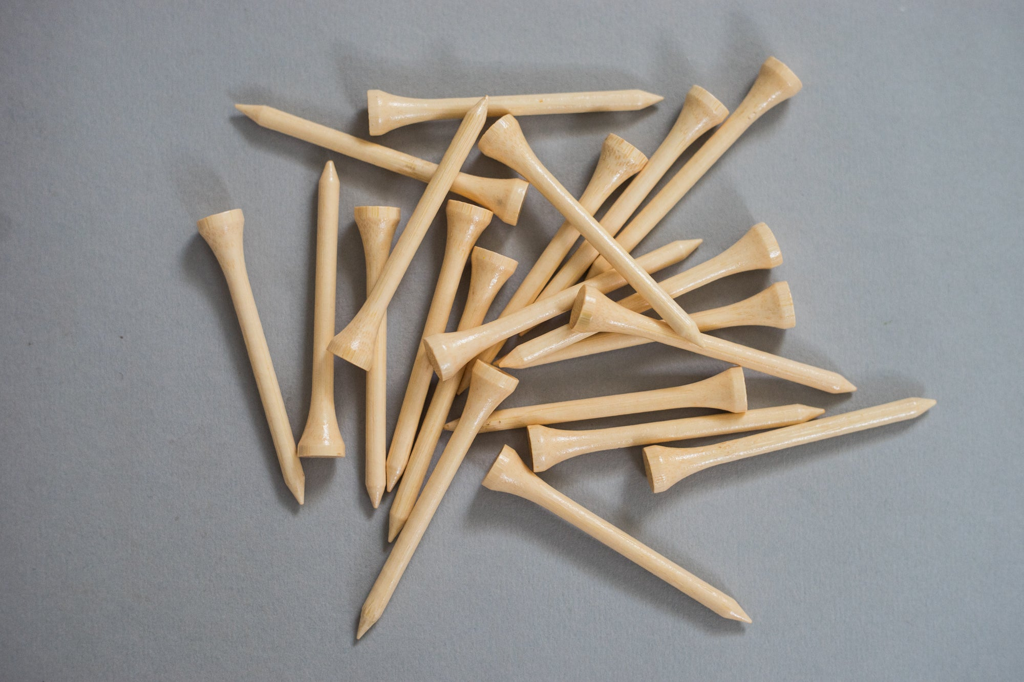 A scatter of Bamboo Golf Tees