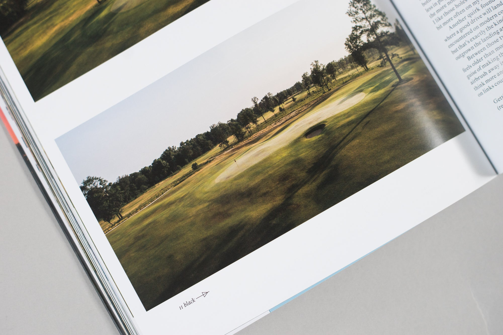 Photograph of a golf putting green included within The Golfer's Journal Issue 6
