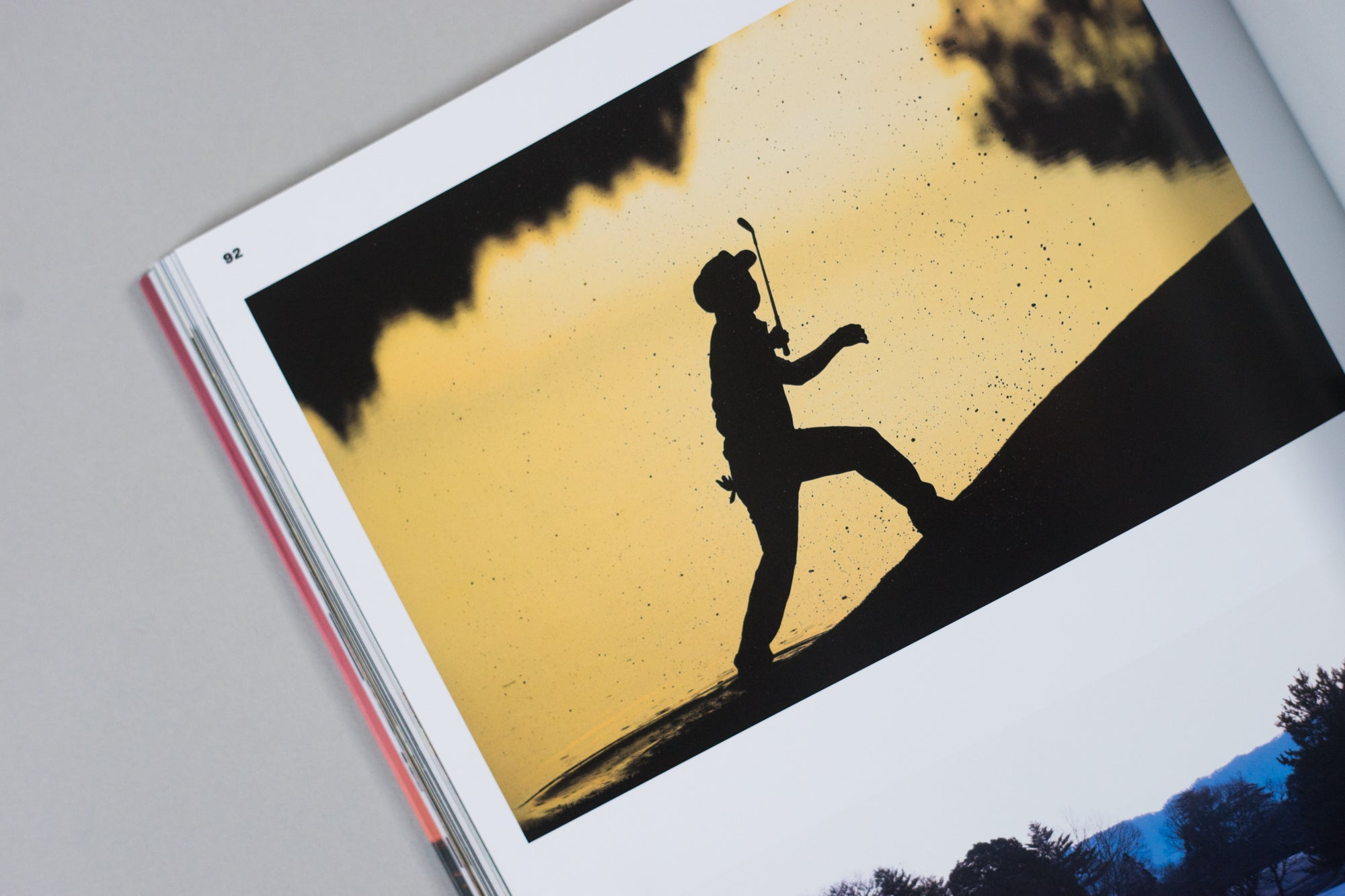 A golfer photographed within The Golfer's Journal Issue 6