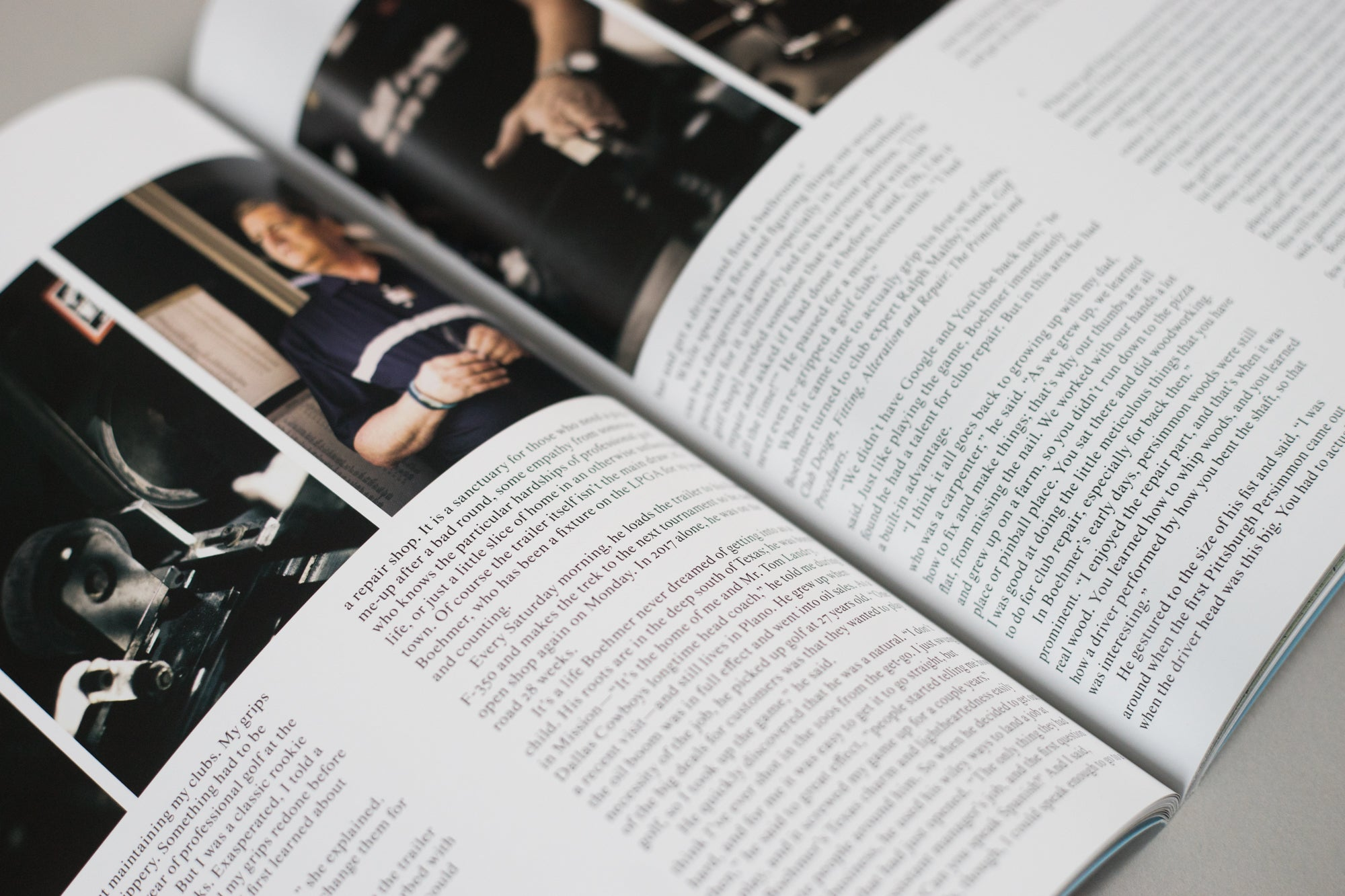 The Golfer's Journal Issue 6 double page article spread