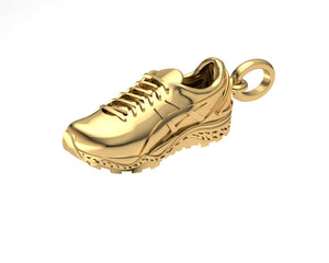 9ct Gold Running Shoe pendant/charm