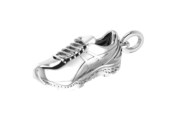 Sterling Silver Running Shoe pendant/charm