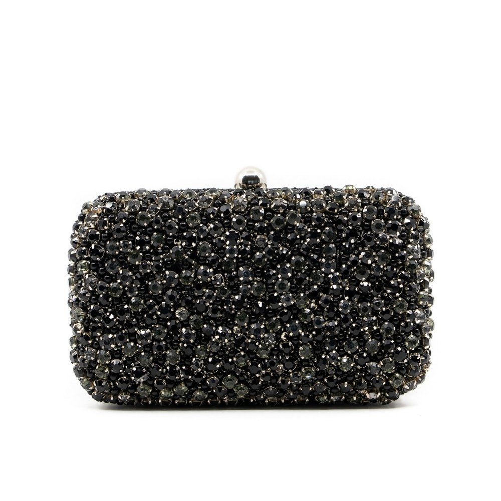 GEMMA CLUTCH - Black Onix - KATHERINELAND