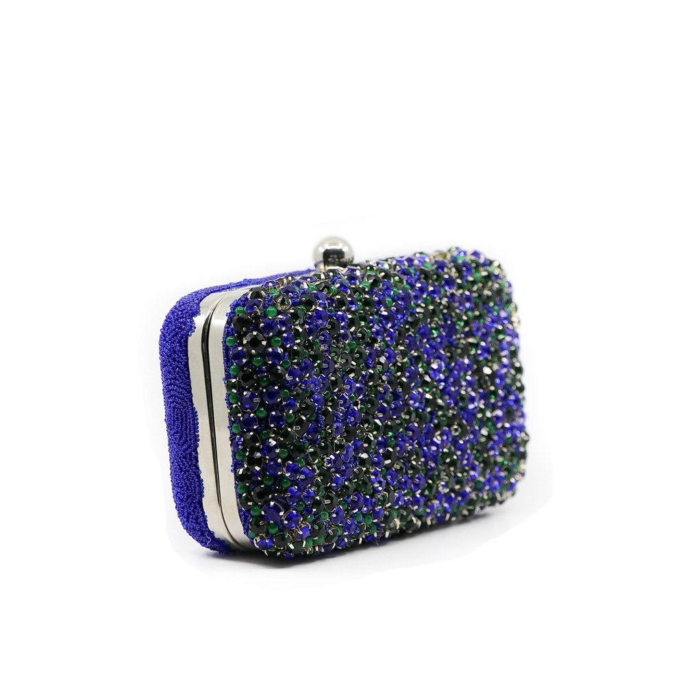 GEMMA CLUTCH - Blue Shapphire - KATHERINELAND