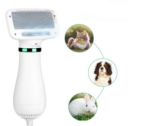 Pet Grooming Hair Dryer Blower with Slicker Brush | Best Fit for Short Haired and Medium Coated Breeds