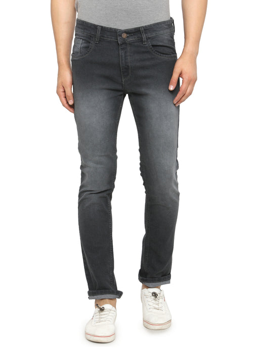 Men Grey Slim Fit Low-Rise Clean Look Low Fade Stretchable Jeans