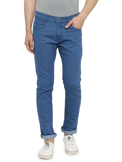 Men Basic Blue Slim Fit Low-Rise Clean Look Stretchable Jeans
