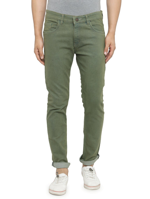 Men Light Green Slim Fit Low-Rise Clean Look Stretchable Jeans