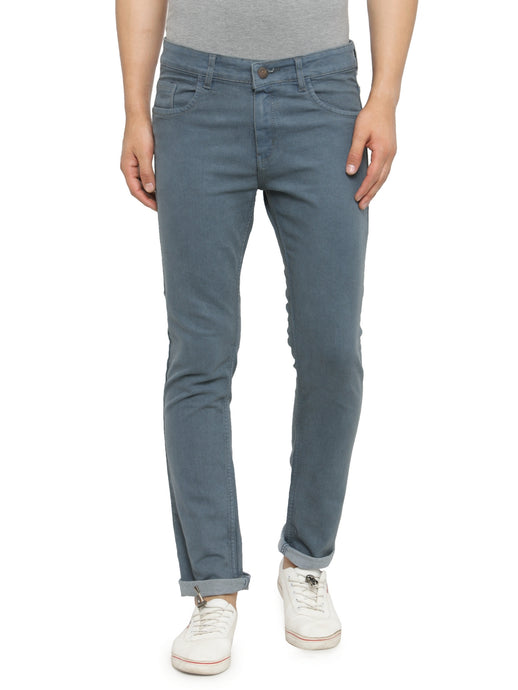Men Grey Slim Fit Low-Rise Clean Look Stretchable Jeans
