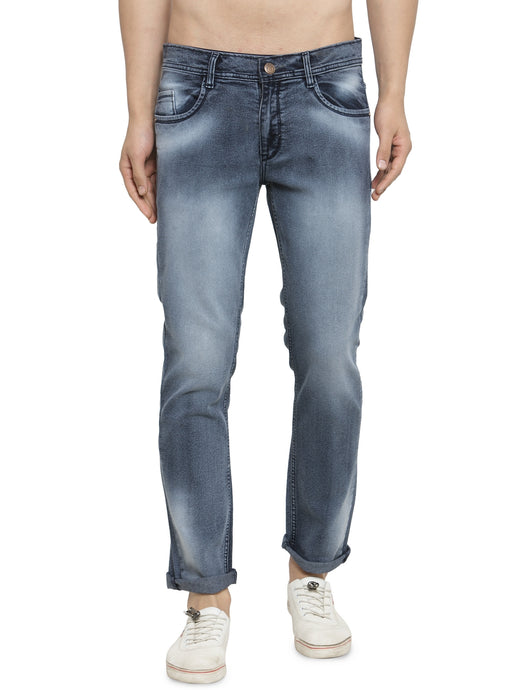 Men Grey Slim Fit Low-Rise Clean Look Faded Stretchable Jeans