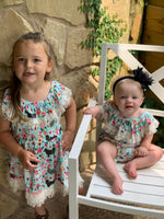 On the Farm Floral Dress SISTER SET