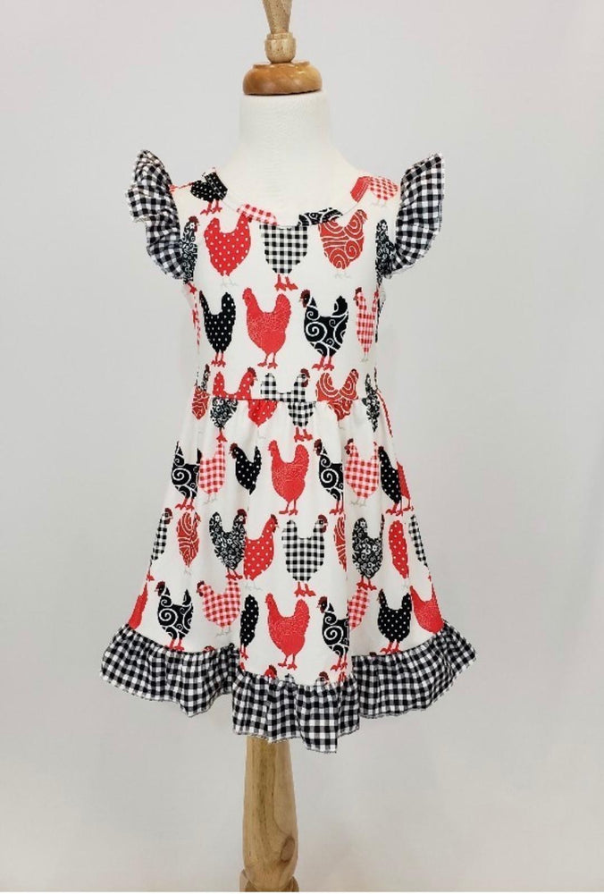Plaid Chicken Dress