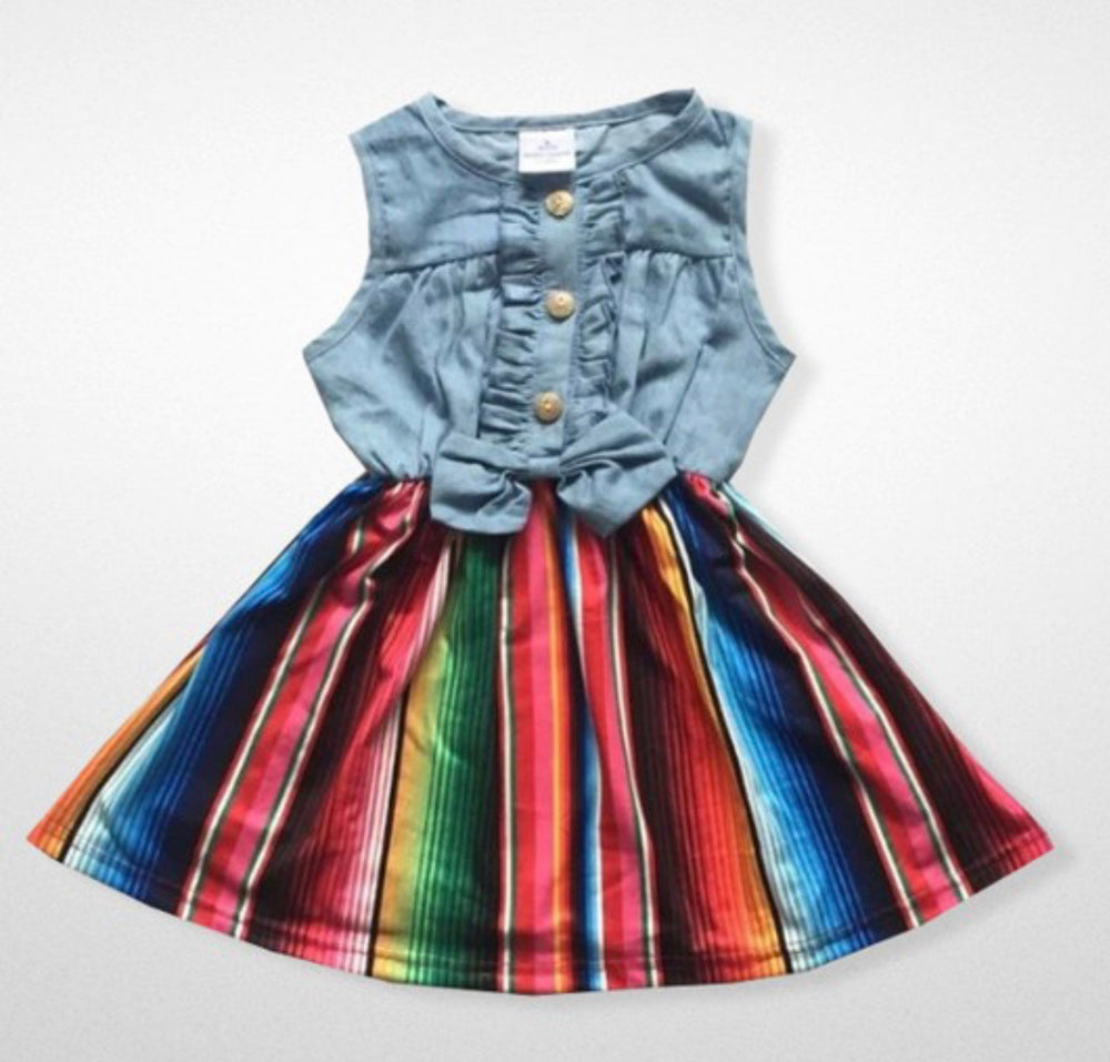 Blue Jean Baby Serape Dress