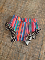 Pink Serape with Cheetah Ruffle Bloomers/Shorties