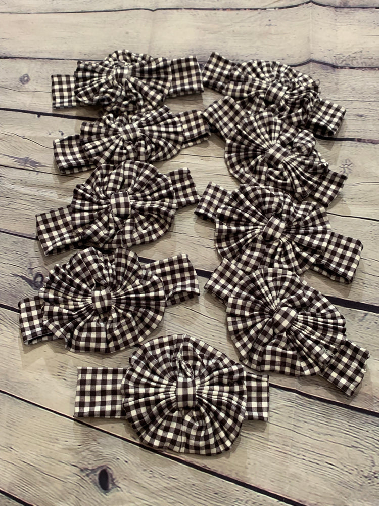 Black & White plaid Headband