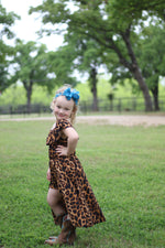 Girls Cheetah Romper