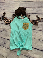 Mint to Be Cold Shoulder Top