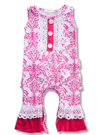 Pink and White baby Romper