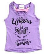 Purple be a Unicorn in a Field of Horses Tank-Top