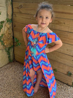 Maxi Multi Color Romper With Necklace