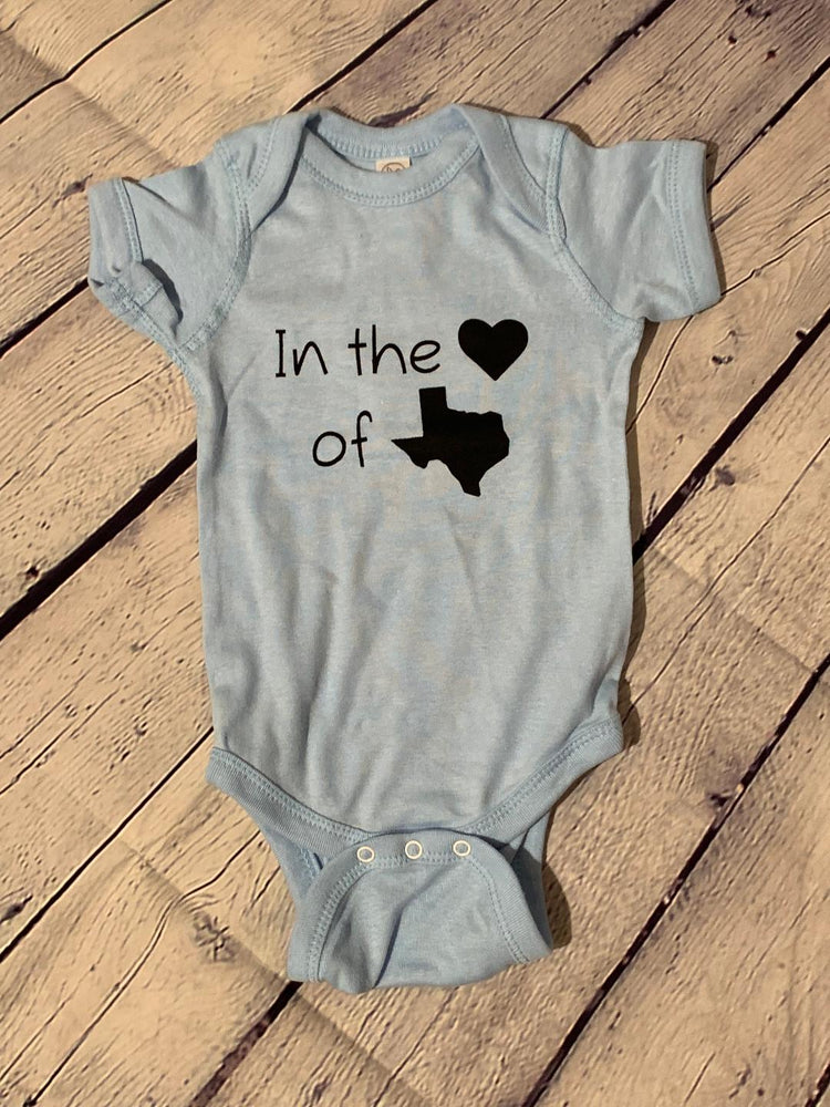 In the Heart of Texas Onesies