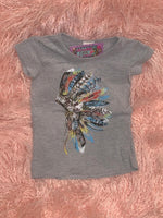 Tribal Head Piece Gray Tee