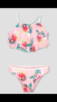Pink Tropical Flower Swim suit