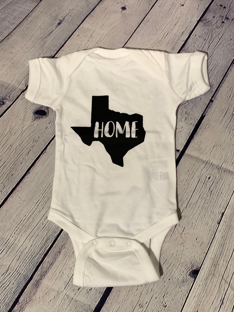 White Home Texas Onesies