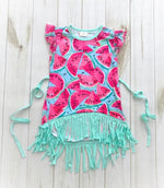 Watermelon Fringe Dress