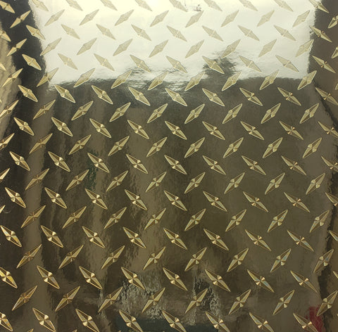 Gold Diamond Plate - Specialty Vinyl