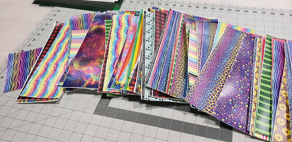 Scrap Packs - Printed HTV or Faux Leather
