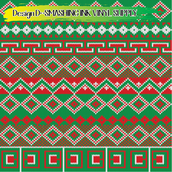 Christmas Plaid - Pattern Vinyl (SHIPS IN 3 BUS DAYS)