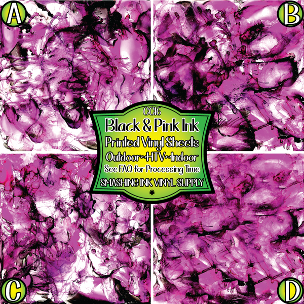Pink Alcohol Ink - Pattern Vinyl (READY IN 3 BUS DAYS)