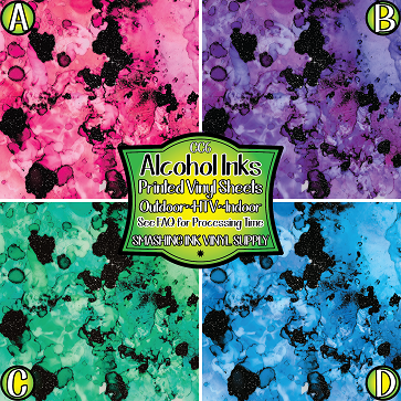 Alcohol Ink - Pattern Vinyl (READY IN 3 BUS DAYS)