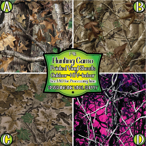 Hunting Camo - Pattern Vinyl (MTO-3 BUS DAYS)