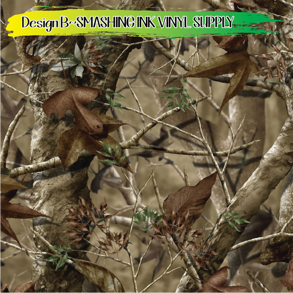 Hunting Camo - Pattern Vinyl (READY IN 3 BUS DAYS)