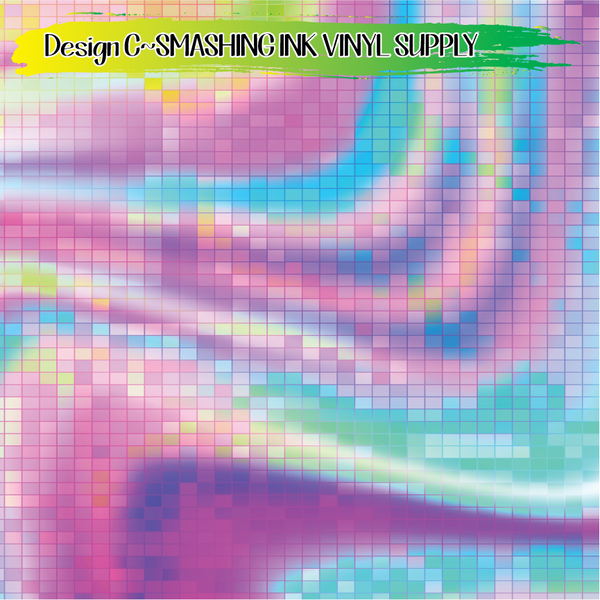 Colorful Hologram - Pattern Vinyl (READY IN 3 BUS DAYS)