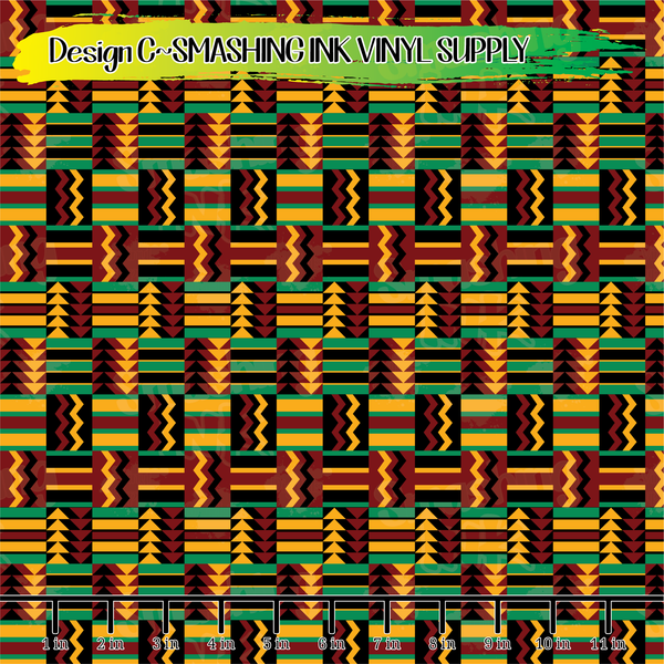 Kente Cloth - Pattern Vinyl (SHIPS IN 3 BUS DAYS)