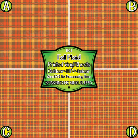 Fall Plaid- Pattern Vinyl (READY IN 3 BUS DAYS)