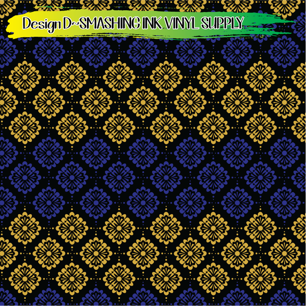 Blue Black Gold - Pattern Vinyl (SHIPS IN 3 BUS DAYS)