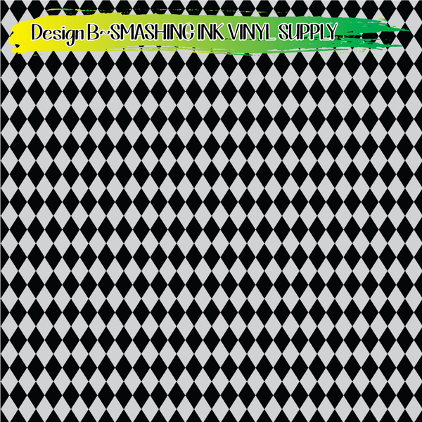 Black Silver Pattern - Pattern Vinyl (READY IN 3 BUS DAYS)
