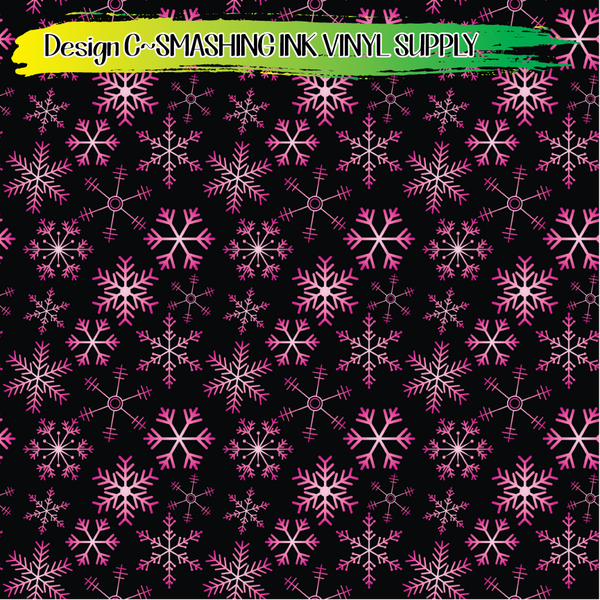 Ombre Snowflakes - Pattern Vinyl (SHIPS IN 3 BUS DAYS)