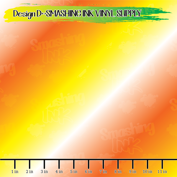 Candy Corn Ombre - Pattern Vinyl (READY IN 3 BUS DAYS)