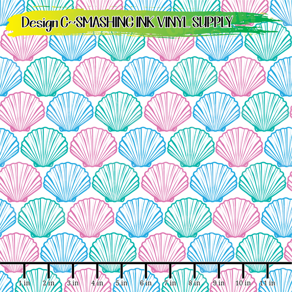 Shell Pattern - Pattern Vinyl (READY IN 3 BUS DAYS)