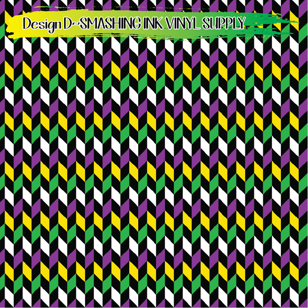 Mardi Gras  - Pattern Vinyl (READY IN 3 BUS DAYS)